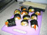 brown rice krab veggie rolls