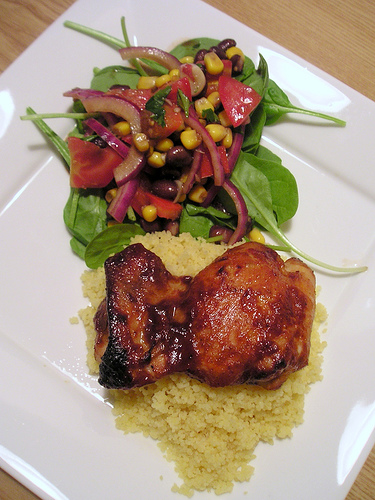 chicken and bean salad