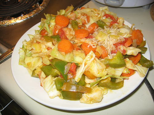 Fried Cabbage and Vegetables