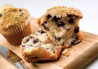 Blueberry Power Muffins with Chopped Almonds