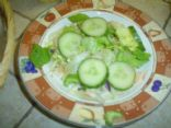 Greg's cucumber green salad