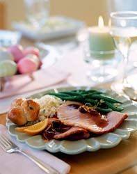 Ham and green bean dinner