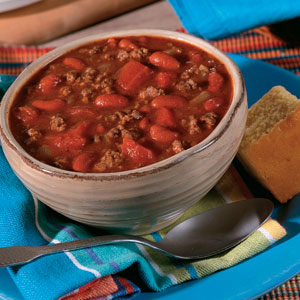 Slow Cooker Hearty Beef and Bean Chili