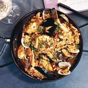 Seafood-and-Chicken Paella with Chorizo