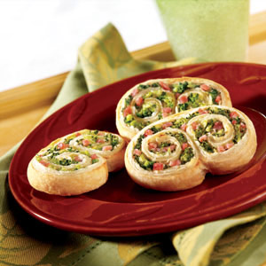 Ham and Broccoli Swirls