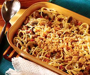 Creamy Chicken and Spaghetti Bake