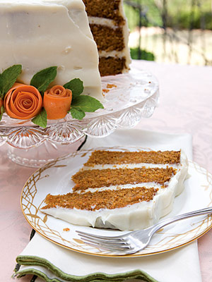 Carrot Cake with Ginger Cream-Cheese Icing