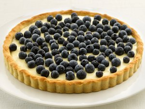 """Healthified"" Blueberry-Lemon Tart"