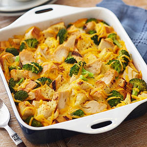 Broccoli and Chicken Strata