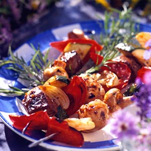 Beef and Vegetable Kabobs