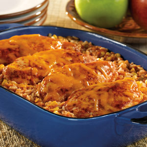 Picante Chicken and Rice Bake
