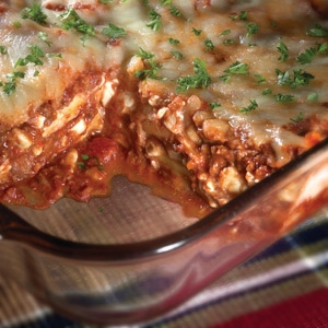 One Step Meatless Lasagna