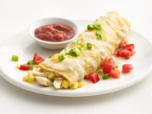 """Healthified"" Creamy Chicken Enchiladas"