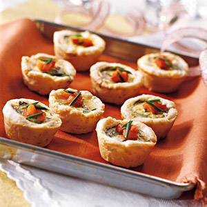 Herb and Cheese Mini Quiches