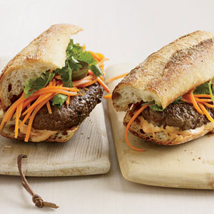 Vietnamese-Style Banh Mi Burgers