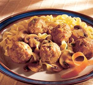 Turkey Meatballs in Wine Sauce