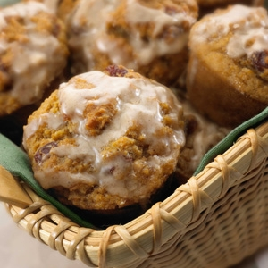 Cherry-Pear Muffins