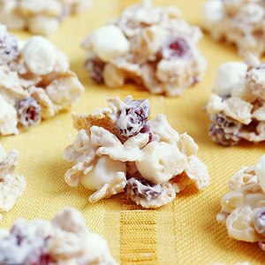 Cranberry-Vanilla Cereal Drops