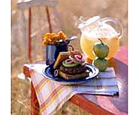 Chili Pepper Burgers with Pickled Green Tomatoes
