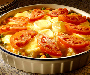 Creamy Egg and Vegetable Bake