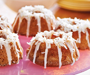 Mini Coconut Bundt Cakes