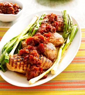 Grilled Chicken Breast with Tomato Chutney