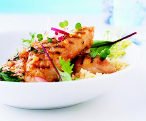 Grilled Fish with Moroccan Vinaigrette