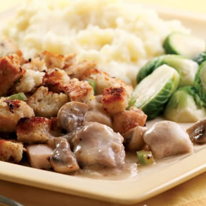 Stuffing-Topped Chicken