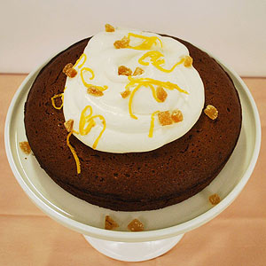 Lemon Ginger Molasses Cake