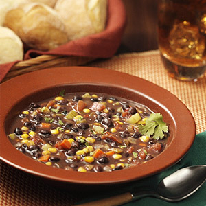 Mean Black Bean Soup