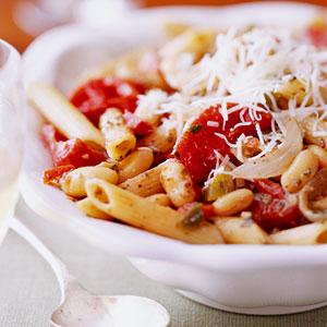 Pesto Beans and Pasta