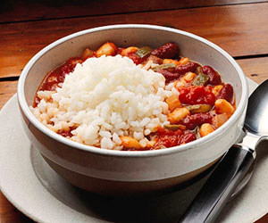 Low-fat Vegetarian Chili with Rice