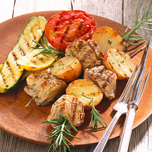 Rosemary-Pork Kabobs