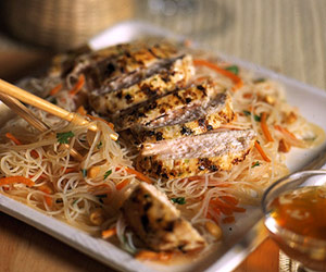 Lemon grass Chicken and Rice Noodles