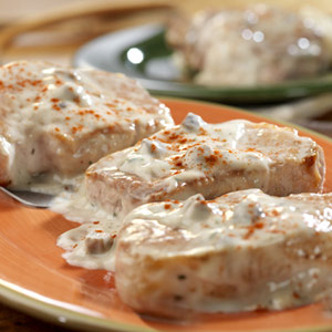 Creamy Ranch Pork Chops and Rice