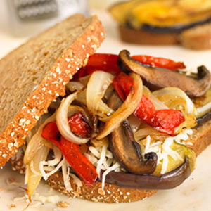 Pan-Grilled Veggie and Cheese Sandwiches