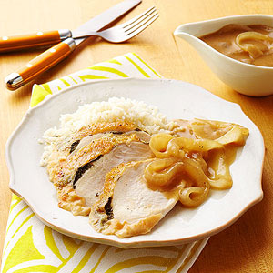 Turkey Breast with Sweet Onion Gravy
