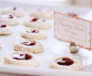 Raspberry Almond Meringues