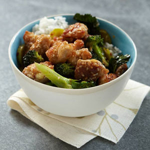 Sesame-Coated Chicken with Broccoli