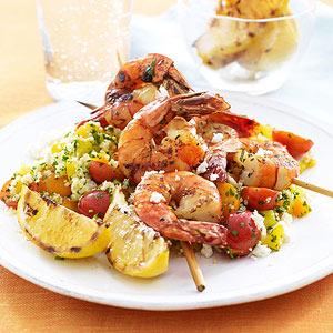 Feta Shrimp Kabobs