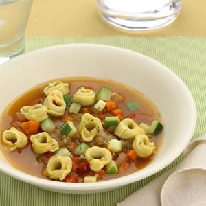 Tortellini & Zucchini Soup