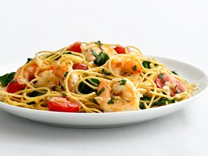 """Healthified"" Garlic Shrimp Pasta"