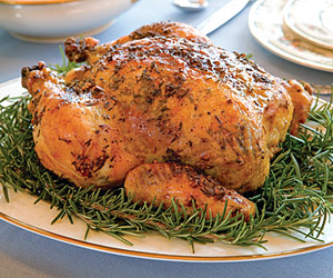 Chicken with Rosemary-Garlic Butter
