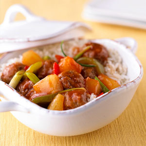Sweet-and-Sour Turkey Meatballs