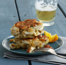 Curried Corn & Crab Cakes