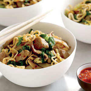 Asian Pork, Mushroom, And Noodle Stir-fry