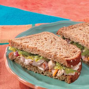 Salsa Chicken Ole Sandwiches