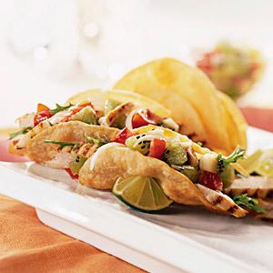 Hard-Shell Chicken and Kiwi Tacos