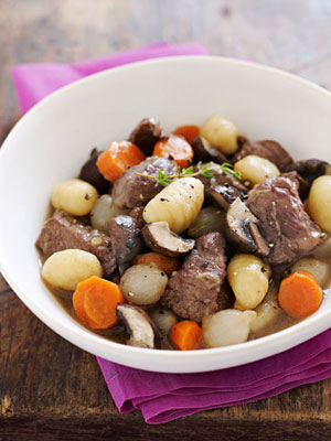 Slow-Cooker Beef Stew with Potato Dumplings