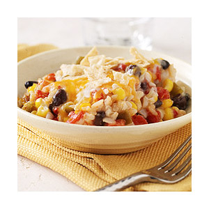 Southwest Rice and Bean Bake